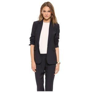Theory • wool pinstripe blazer jacket navy